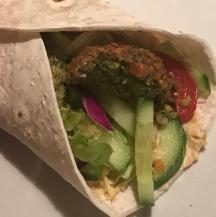 falafel wrap hummus