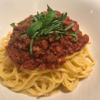gluten free vegan spaghetti bolognaise