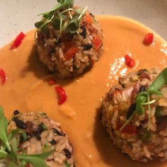 rice balls closeup