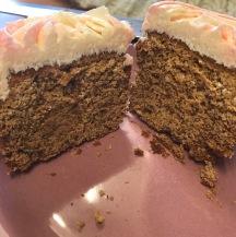 vegan gf cupcake cut