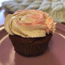 vegan GF icing cupcake