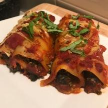 vegan spinach canneloni cashew ricotta