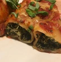 vegan spinach rcittota canneloni