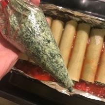 vegan spinach ricotta suace ready