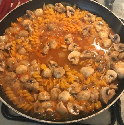 mushroom stroganoff pasta vegan GF