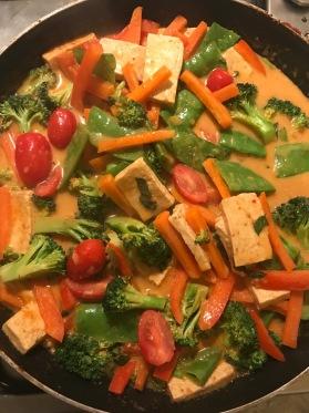 Panang Thai curry tofu GF vegan