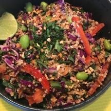 quinoa salad peanut vegan no gluten