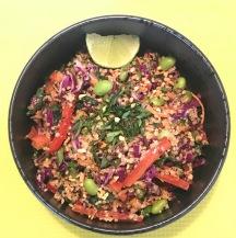 quinoa salad vegan gluten free peanut