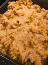 Cheesy pasta bake with pumpkin vegan and gluten free